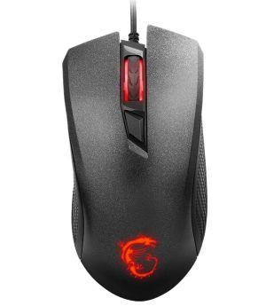 MSI myš Clutch GM 10 Gaming / 2400 dpi / 4 tlačítka / podsvícené logo  / USB