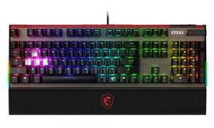 MSI klávesnice Vigor GK80 CS / drátová / RGB podsvícení / mechanická/ Cherry Silver / MSI