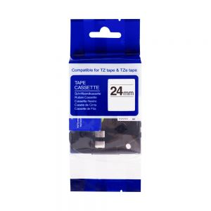 PEKRO kompatibilní páska s BROTHER TZE-D51, 24mm, černý tisk/signálně zelený podklad