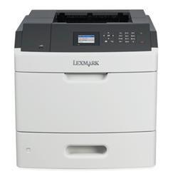 LEXMARK MS810de mono laser, 1200dpi, 52ppm, 512MB, 800MHz, USB, DUPLEX, GLan