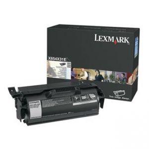 Lexmark originální toner X654H31E, black, 36000str., Lexmark X654,656,X658