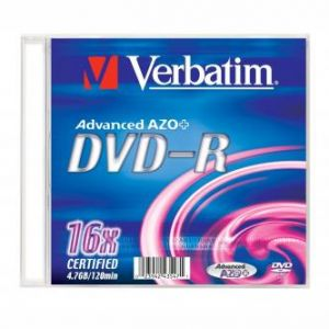 Verbatim DVD-R, 43547, DataLife PLUS, 20-pack, 4.7GB, 16x, 12cm, General, Standard, slim b
