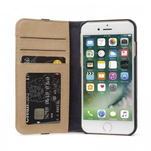 DECODED Leather Wallet C. 2, sahara- APPLE iPhone 8/7/6s