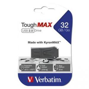 Verbatim ToughMAX, 2.0, 32GB, černý, 49331, kompozitní materiál KyronMAX(tm)