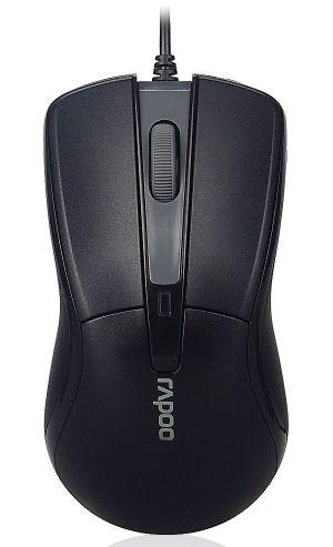 RAPOO N1162 Black/ 1000 dpi/ drátová/ černá