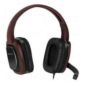 DEFENDER, Warhead G-250, sluchátka s mikrofonem, ovládání hlasitosti, černo hnědé, herní s
