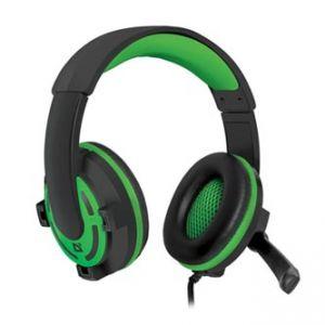 Defender, Warhead G-300, sluchátka s mikrofonem, ovládání hlasitosti, zeleno černé, herní