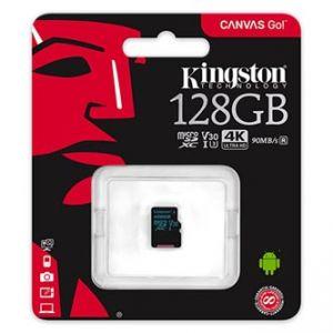 Kingston paměťová karta Canvas Go!, 128GB, micro SDXC, SDCG2/128GBSP, UHS-I U3, bez adapté