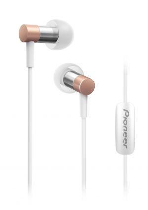 Pioneer špuntová sluchátka, Hi-Res, mikrofon, růžová