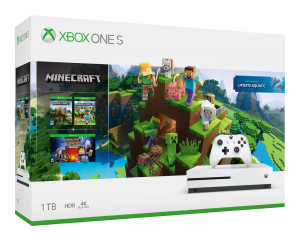XBOX ONE S 1 TB + Minecraft + Explorers Pack + Minecraft: Story Mode - The Complete Advent