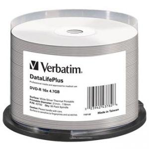 Verbatim DVD-R, 43782, DataLife PLUS, 50-pack, 4.7GB, 16x, 12cm, Professional, cake box, W