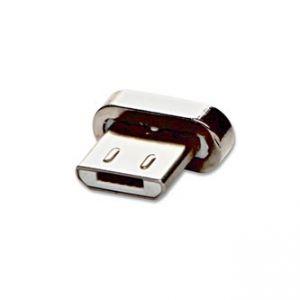 USB (2.0) Redukce, Magnetický konec-USB micro (2.0) M, 0, stříbrná, redukce k magnetickému