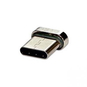 USB (2.0) Redukce, Magnetický konec-USB C (3.1), 0, stříbrná, redukce k magnetickému kabel