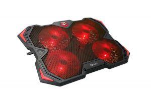 """C-TECH Chladící podložka pro ntb Zefyros (GCP-01R), casual gaming, 17,3"""", červené podsvíce"""