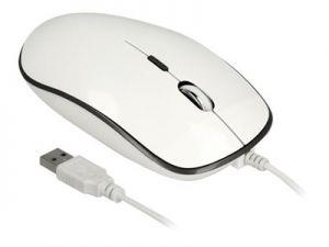DeLOCK - Myš - pravák a levák - optický - 4 tlačítka - kabelové - USB - antracit, lesklá b