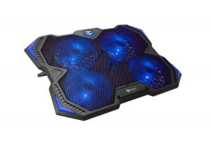"""C-TECH Chladící podložka pro ntb Zefyros (GCP-01B), casual gaming, 17,3"""", modré podsvícení"""