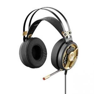 A4tech, Bloody M660, sluchátka s mikrofonem, ovládání hlasitosti, zlatá, herní sluchátka,
