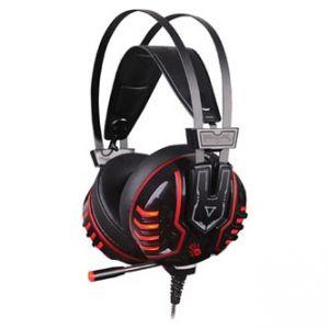 A4tech, Bloody M615, sluchátka s mikrofonem, ovládání hlasitosti, černo-červená, herní slu