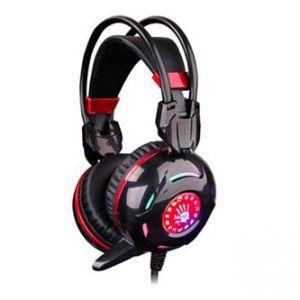 A4Tech, G300, sluchátka s mikrofonem, černá, 3.5 mm jack + USB