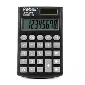 Kalkulačka Rebell, RE-SHC208 BX, černá, kapesní, osmimístná
