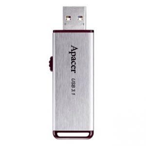 Apacer USB flash disk, 3.1, 64GB, AH35A, stříbrný, AP64GAH35AS-1, vysouvací konektor s kry