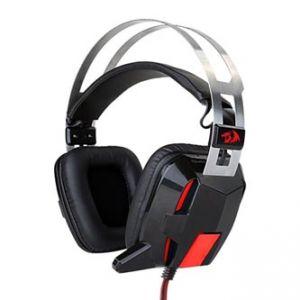 REDRAGON LAGOPASMUTUS, herní sluchátka s mikrofonem, ovládání hlasitosti, černo-červená,