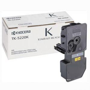 KYOCERA originální toner TK-5220B Černý/black, 1200str. KYOCERA 5521, 5521cdn, 552