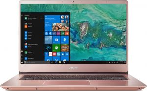 """ACER Swift 3 - 14""""/i5-8250U/2*4G/256SSD/W10 růžový"""