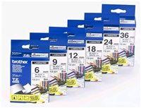 BROTHER TZ555 White On Blue Tape (24mm) - výprodej