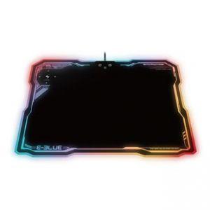 Podložka pod myš, EMP013, herní, černá, 36.5x26.5 cm, E-BLUE, podsvícená