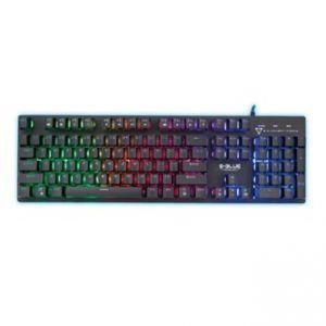 E-BLUE Klávesnice EKM768, herní, černá, drátová (USB), US, hybridní, podsvícená