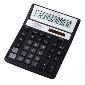 CITIZEN Kalkulačka SDC888XBK, černá, stolní, dvanáctimístná