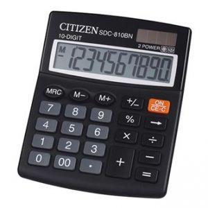 CITIZEN Kalkulačka SDC810BN, černá, stolní, desetimístná, duální napájení