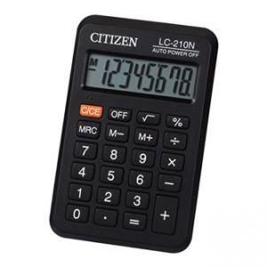 CITIZEN Kalkulačka LC210NR, černá, kapesní, osmimístná