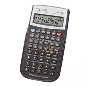 CITIZEN Kalkulačka SR260N, černá, vědecká, desetimístná