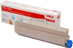 OKI originální toner 45862816 modrý/cyan 10000str. pro OKI MC873DN.., MC883DN..