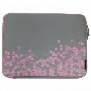 """Obal na notebook 12,1"""", Graphic, šedo-růžový z neoprénu, Logo"""
