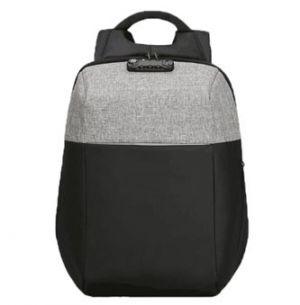 """Batoh na notebook 15,6"""", NB008, šedo-černý z polyesteru/polyethylenu/nylonu, není snadné v"""