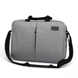 """Taška na notebook 15.6"""", NT013, šedá z polyesteru, voděodolná s ramenním popruhem"""