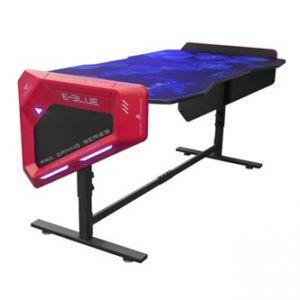 E-BLUE Herní stůl 165x88,5x64 cm, podsvícený