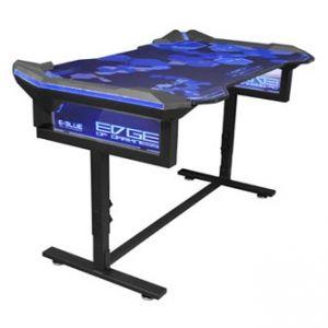 E-BLUE Herní stůl 135x78,5x69,5 cm, podsvícený