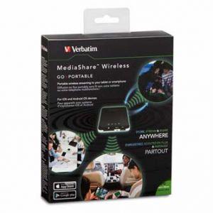 Verbatim Mediashare Wireless Portable, USB, 98243, černá