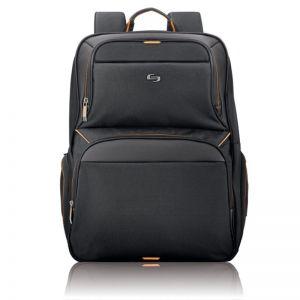 "Solo Thrive Backpack, black/orange - 17.3"""