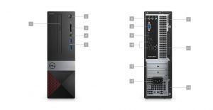 Dell  Vostro 3470 Pentium G5400, 4GB, 1TB, Intel UHD 610, DVD RW, WLAN + BT, Kb, Mouse, W