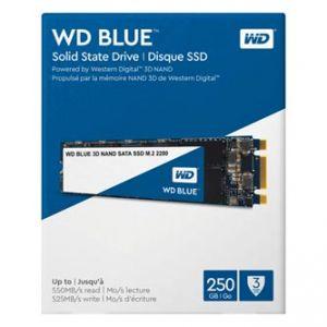 SSD Western Digital M.2 SATA III, M.2 SATA III, 250GB, GB, WD Blue 3D NAND, WDS250G2B0B 52