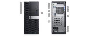 Dell OptiPlex 7060 - MT - 1 x Core i5 8500 / 3 GHz - RAM 8 GB - SSD 256 GB - DVD-zapisovač