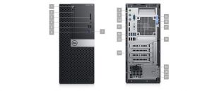 Dell OptiPlex 7060 - MT - 1 x Core i5 8500 / 3 GHz - RAM 4 GB - HDD 500 GB - DVD-zapisovač