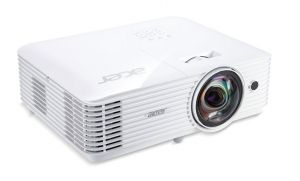 Acer S1386WHn DLP ShortThrow, WXGA 1280x800, 3600 ANSI, 20000:1, VGA, HDMI(MHL), RJ45, rep