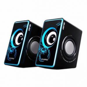 MARVO SG-201 reproduktory 2.0, 6W, regulace hlasitosti, modré, herní, USB+3.5mm konektor2