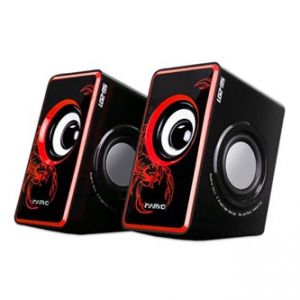 MARVO SG-201 reproduktory 2.0, 6W, regulace hlasitosti, červené, herní, USB+3.5mm konekto